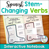 Spanish Stem Changing Verbs Interactive Notebook Activity