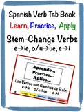 Spanish Stem-Changing Verbs Tab Book