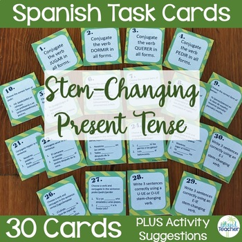 Spanish Stem Changing Verbs Task Cards