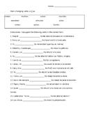 Spanish Stem Changing Verbs Worksheet (o-->ue)