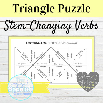 Spanish Stem Changing Verbs Puzzle