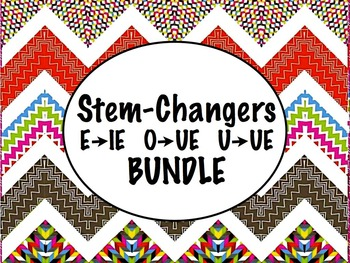 Spanish Stem-changing Verbs (E to IE, O to UE, & U to UE) BUNDLE