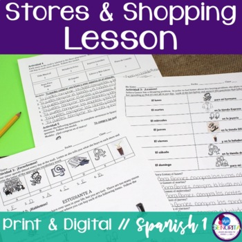 Spanish Stores & Shopping Lesson