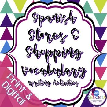 Spanish Stores & Shopping Writing Activities
