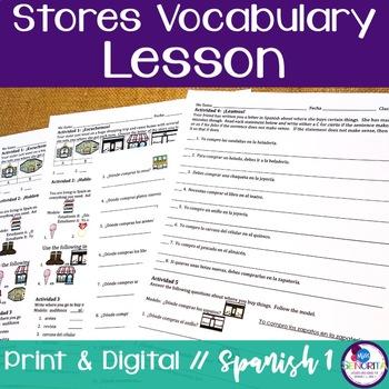 Spanish Stores Vocabulary Lesson