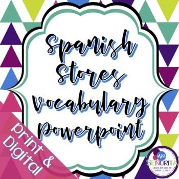 Spanish Stores Vocabulary Powerpoint