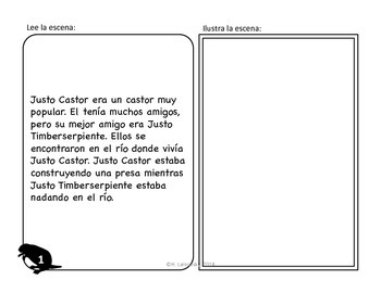 Spanish Story Reading Activities: Justo Castor - Superestrella Episode 1