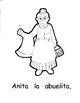 Spanish Story/Coloring Book for kids - Anita La Abuelita