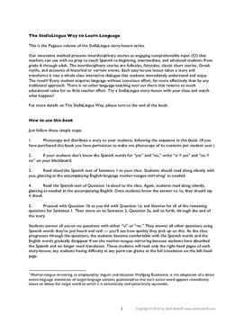 Bundled Comprehensible-Input Spanish Story-Lessons  Pegasus volume: lessons 1-21