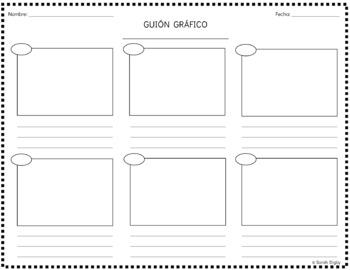 Spanish Storyboard Graphic Organizer / Guión Gráfico