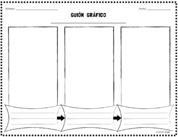 Spanish Storyboard Graphic Organizer / Guión Gráfico (Double-Sided)