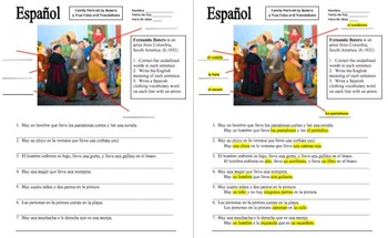 Spanish Street Scene by Fernando Botero 7 Sentences