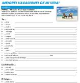 Spanish Structured Input - Mejores vacaciones de mi vida