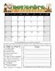 Spanish Student Behavior Calendar (Vertical) August 2016 - July 2017