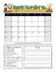 Spanish Student Behavior Calendar (Vertical) August 2016 -