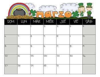 Spanish Student Calendar August 2015- July 2016