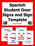 Spanish Student Door Signs in 6 Designs and Sign Template