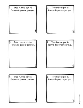Spanish Student Feedback Sticky Notes Templates