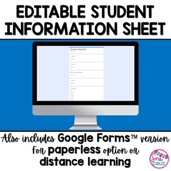 Spanish Student Information Sheet