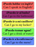 Spanish Student Questions Poster