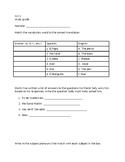 Spanish Study Guide (S1C1) - AR/ER/IR verbs, Subject Prono