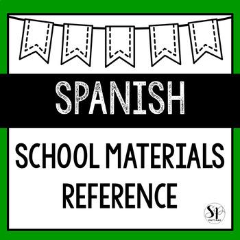 Spanish Study Guide: School Materials (La Escuela)