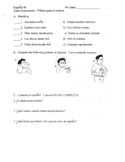 Spanish Worksheet for Tener Expressions