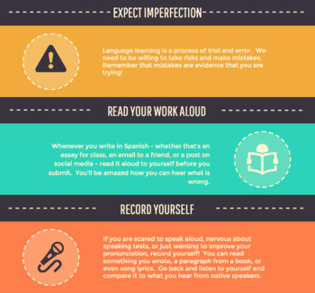 Spanish Study Tips Infographic