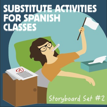 Spanish Substitute Activities Bundle #2 - Sub plans for Spanish classes