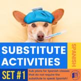 Spanish Substitute Activities Bundle #1 - Sub plans for Spanish classes
