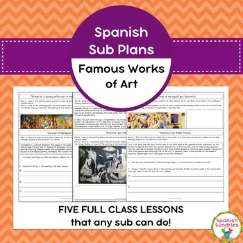 Spanish Sub Plans:  Famous Works of Art