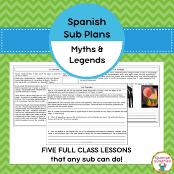 Spanish Sub Plans:  Hispanic Myths & Legends