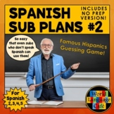 Spanish Sub Plans, Substitute Plans, Spanish 2, 3, 4, 5  Emergency Plans, Set #2