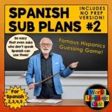 Spanish Sub Plans, Substitute Plans, Spanish 2, 3, 4, 5  E