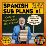 Spanish Sub Plans, Substitute Plans for Spanish 1, 2, and