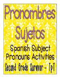 Spanish Subject Pronoun Activities - Pronombres Sujetos