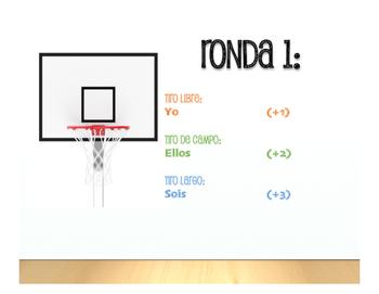 Spanish Subject Pronoun Basketball