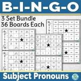 Spanish Subject Pronoun Bingo Bundle