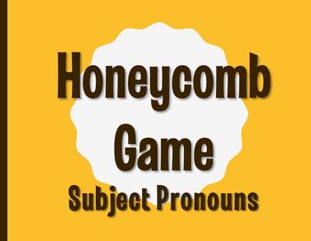 Spanish Subject Pronoun Honeycomb Partner Game