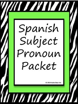 Spanish Subject Pronoun Bundle