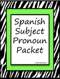 Spanish Subject Pronoun Bundle