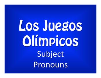 Spanish Subject Pronoun Olympics