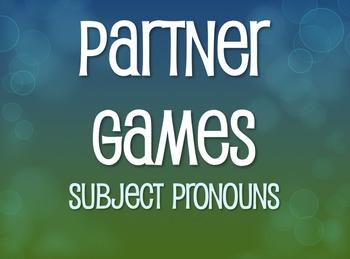 Spanish Subject Pronoun Partner Games