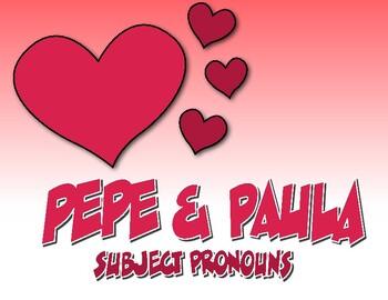 Spanish Subject Pronoun Pepe and Paula Reading