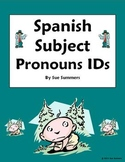 Spanish Subject Pronoun Picture IDs Worksheet