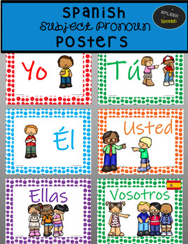 Spanish Subject Pronoun Poster Pictures