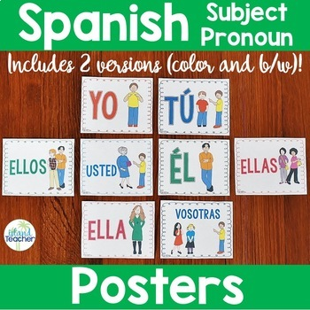 Spanish Subject Pronoun Posters