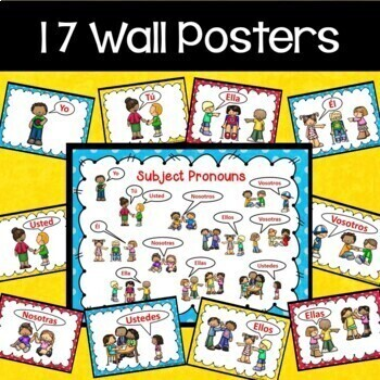 Spanish Subject Pronouns Posters and Worksheets