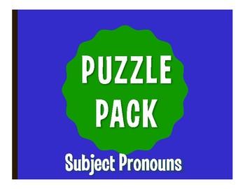 Spanish Subject Pronoun Puzzle Pack