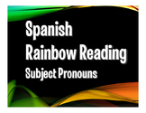 Spanish Subject Pronoun Rainbow Reading